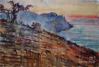 Painting - By The Sea by Anna Lobovikov-Katz
