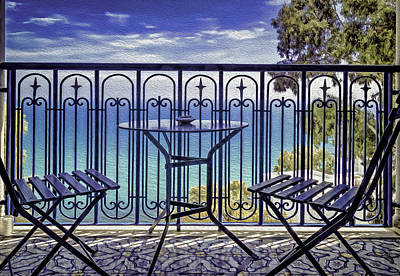 Sidi Bou Said Photograph - By The Sea by Maria Coulson