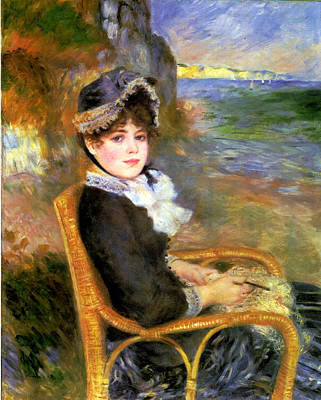 Digital Art - By The Seashore by Pierre Auguste Renoir