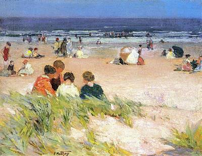 Sea Shore Digital Art - By The Shore by Edward Potthast