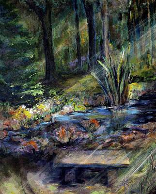 Painting - By The Stream by Jodie Marie Anne Richardson Traugott          aka jm-ART