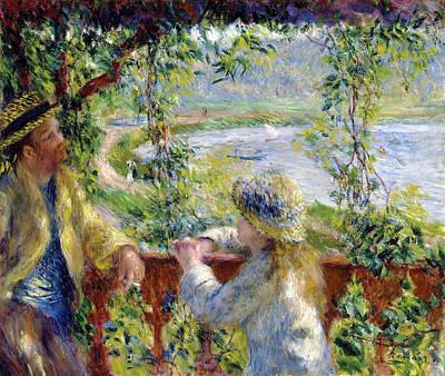 Digital Art - By The Water by Pierre Auguste Renoir