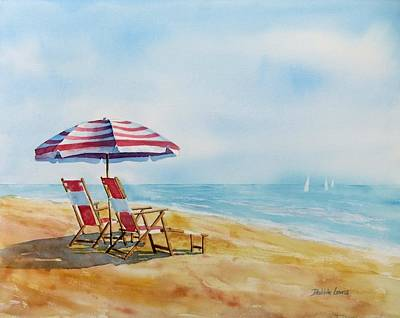 Painting - By The Waterfront by Debbie Lewis
