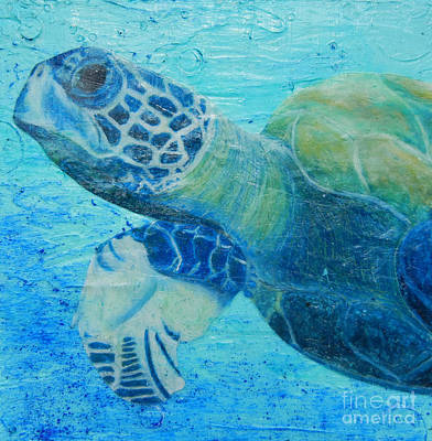 Sea Turtle Painting - Byrons Journey by Kristen Ashton