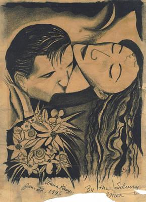 Sweet Kiss Drawing - Bythesilverymoon by Anna Kaszupski