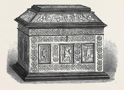Byzantine Drawing - Byzantine Casket Of Bonework Set In Ebony by English School