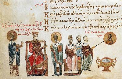 Byzantine Painting - Byzantine Iconoclasts by Granger