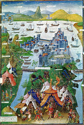 Byzantine Painting - Byzantine-ottoman Wars, Constantinople by Science Source