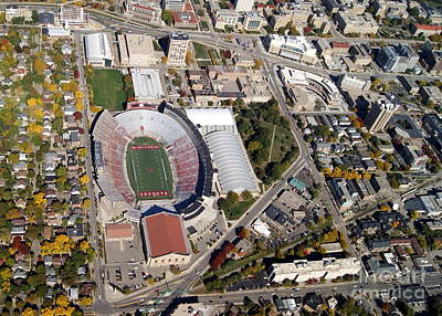 Photograph - C-038 Camp Randall Fall Madison Wisconsin by Bill Lang