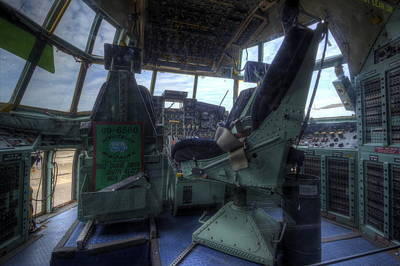Flightdeck Photograph - C-130 Cockpit by David Dufresne