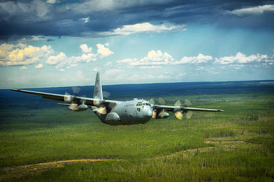 C-130 Wall Art - Photograph - C-130 Hercules Over Canada by Mountain Dreams