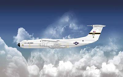 C-141a Starlifter Art Print by Arthur Eggers