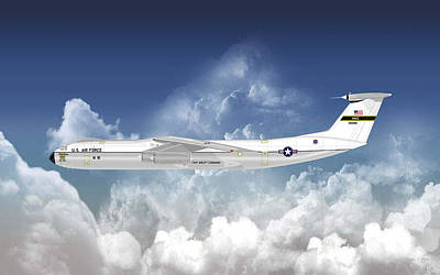 C-141b Starlifter Art Print by Arthur Eggers