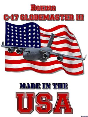 Made In The Usa Digital Art - C-17 Globemaster IIi Made In The Usa by Mil Merchant