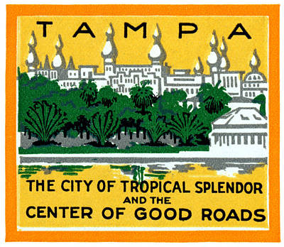 Painting - C. 1920 Tropical Splendor Of Tampa Florida by Historic Image