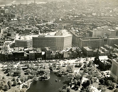 Photograph - C. 1930 Aerial View Of Boston  by Historic Image