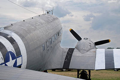 Art Print featuring the photograph C-47 3880 by Guy Whiteley