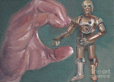 Painting - C Is For C3p0 by Jessmyne Stephenson