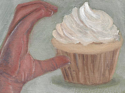 Painting - C Is For Cupcake by Jessmyne Stephenson
