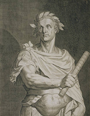 Statesmen Drawing - C. Julius Caesar Emperor Of Rome by Titian