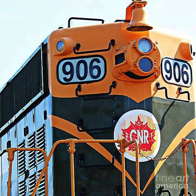 C N R Train 906 Art Print by Barbara Griffin