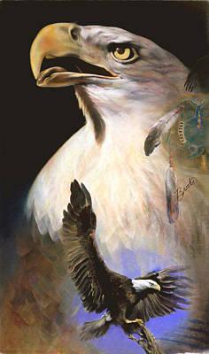 Art Print featuring the pastel Contact 2 - Pastel Art  by Brooks Garten Hauschild