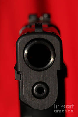 Photograph - C Ribet P220 Down The Sights Red by C Ribet