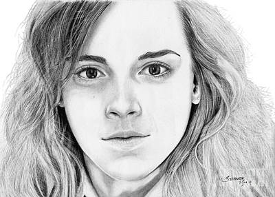Hermione Granger Drawing - Hermione Granger by Suranga Basnagala