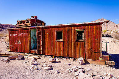 Old Caboose Photograph - C U P O L A by Charles Dobbs