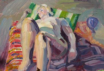 Painting - C02. Sun Bathing by Les Melton