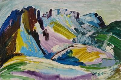 Painting - C03. Lakeland Hills  Uk by Les Melton