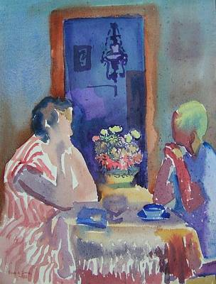 Painting - C06. Tea Time by Les Melton