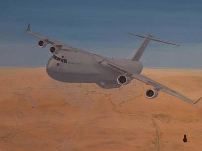 C17 Out Of Baghdad Art Print by Jonathan Laverick