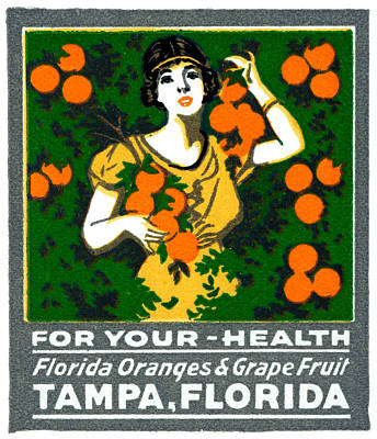 Painting - C.1920 Tampa For Your Health by Historic Image