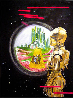 C3p0 Dream Original by Valery Latulippe