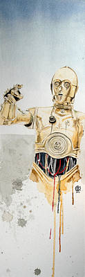 War Painting - C3po by David Kraig
