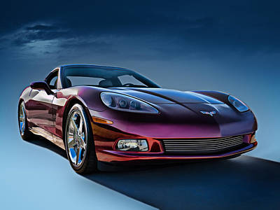 Chrome Wall Art - Digital Art - C6 Corvette by Douglas Pittman