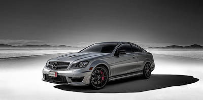Shadow Digital Art - C63 Amg by Douglas Pittman