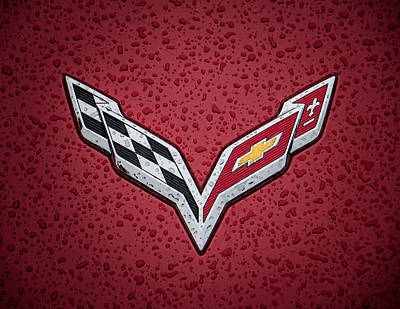 Sportscar Digital Art - C7 Badge by Douglas Pittman
