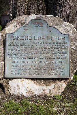 Ca-534 Rancho Los Putos Art Print by Jason O Watson