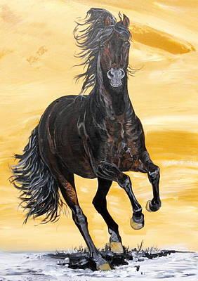 Janina Suuronen Art Painting - Caballo Para El Rey by Janina  Suuronen