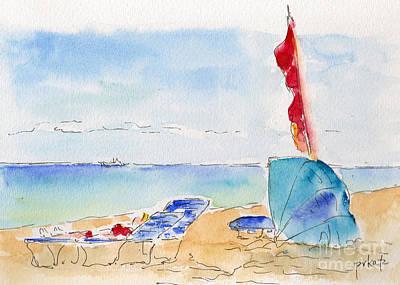 Painting - Cabana Time by Pat Katz