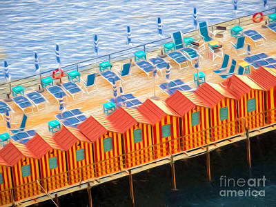 Cabanas Of Sorrento Art Print