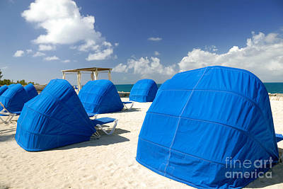 Cabanas On The Beach Print by Amy Cicconi