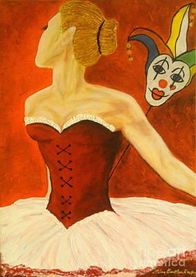 Cabaret Ballerina Art Print by Elena  Constantinescu