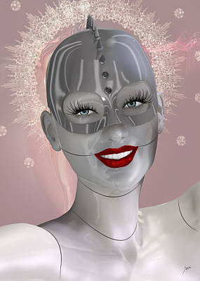 Cabaret Of The Spiritual Robot Art Print by Quim Abella