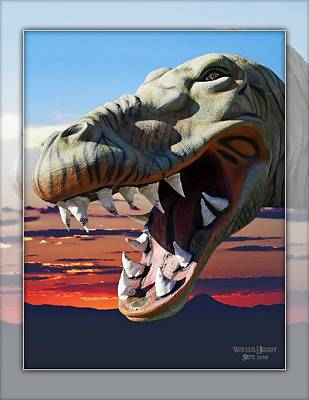 Claude Monet - Cabazon Dinosaur by Walter Herrit