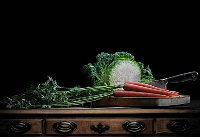 Cabbage And Carrots Art Print by Krasimir Tolev