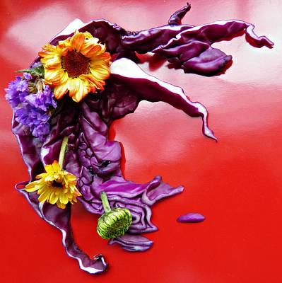 Photograph - Cabbage Arrangement by Sarah Loft