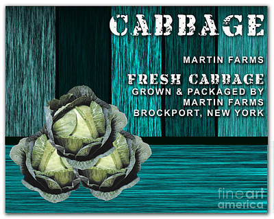 Cabbage Mixed Media - Cabbage Farm by Marvin Blaine